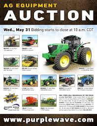 sold may 31 ag equipment auction purplewave inc