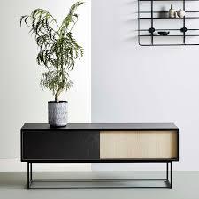 Buffet design scandinave en chªne en bois peint en métal