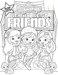 printable strawberry shortcake coloring page
