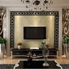 Wall Decals For Living Room Aliexpress Com Buy Fashion Acrylic 3d Mirror Wall Sticker Flower