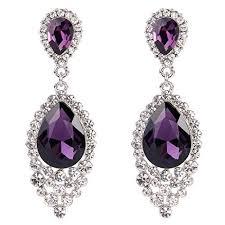 purple drop earrings purple drop earrings