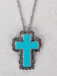 turquoise stone necklace necklaces statement susan u0027s silver cross with turquoise