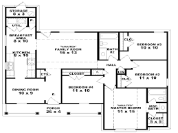 654044 one story 3 bedroom 2 bath french traditional at home plans