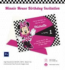 Birth Invitation Cards Minnie Mouse Birthday Invitation Template U2013 12 Free Psd Ai