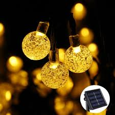 String Of Fairy Lights by Solar Lamps 6m 30 Led Crystal Ball String Lights Colorful Warm