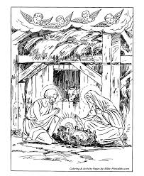 baby jesus coloring page classic christmas coloring pages angels watching baby jesus