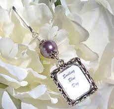 wedding keepsake gifts wedding bouquet photo charm purple pearl memorial picture charm