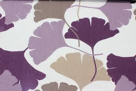 damson plum ginkgo fabric by the yard curtain upholstery