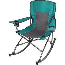 Fold Up Rocking Lawn Chair Ozark Trail Rocking Chair Green Walmart Com
