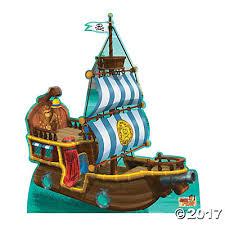 u0026 land pirates bucky pirate ship cardboard stand