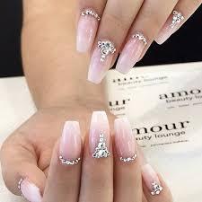 Rhinestone Nail Design Ideas 31 Elegant Wedding Nail Art Designs Wedding Nails Art Weddings
