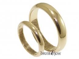 fingerprint wedding band custom handmade fingerprint jewelry by brent jess
