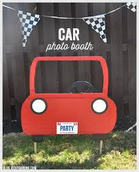 photo booth for diy car photo booth cars themed birthday diy photo booth and