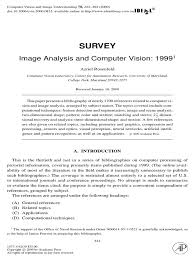image processing research papers bibliography computer vision