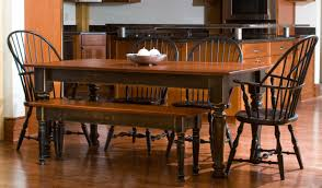 well groomed rustic kitchen table with bench for rustic kitchen