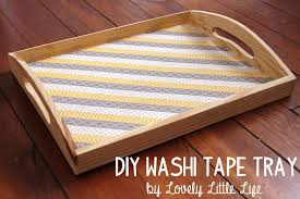 lovely little life easy diy washi tape serving tray
