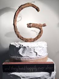 g cake topper letter g twig topper g standard grapevine topper rustic