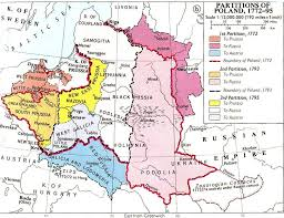 russia map before partition the empire of poland
