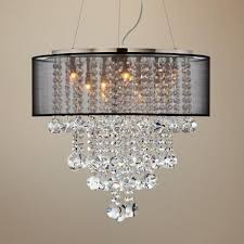 Chandeliers With Shades And Crystals by 32