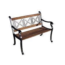 Oakland Living Mississippi Cast Aluminum Cast Iron Outdoor Benches Patio Chairs The Home Depot