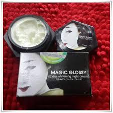 Wajah Magic Glosy magic glossy whitening pemutih kulit wajah dan badan