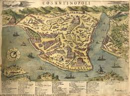 Istanbul Map Map Of Istanbul 1573 Simon Pinargenti