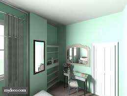 any suggestions for a mint wall grey flooring bedroom