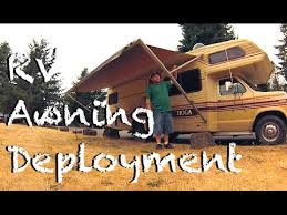 A E Rv Awning Deploying Rv Awning A U0026e Systems Youtube