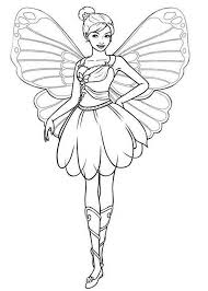 drawing barbie mariposa colouring happy colouring