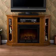 fireplace traditional wooden tv stand design with electric