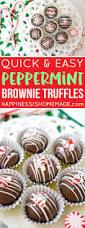 easy peppermint brownie truffles