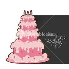 happy birthday greeting card or invitation card with delicious