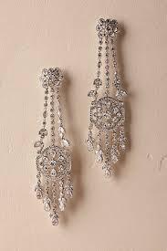 Sparkly Chandelier Earrings Wedding Dress U0026 Bridal Jewelry Bhldn