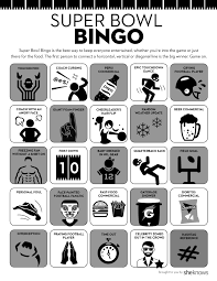 Halloween Bingo Free Printable Cards by Football Super Bowl Bingo Gets You In On The Competition