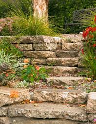 Rock Garden Steps by How To Build A Reused Concrete Wall Gardendrum