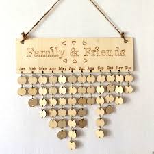 home decor planner wooden birthday calendar hanging board diy family friends calendar