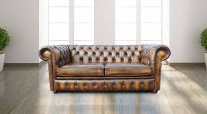 Leather Chesterfield Sofa Buy Gold Leather Chesterfield Sofa At Designersofas4u