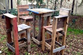 Wooden Table Chairs Pallet Wood Table And 4 Chairs Set 101 Pallets
