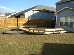 fire pit wood deck project just completed in goose creek sc archadeck of