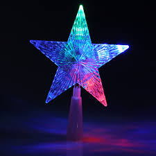 christmas tree topper star light color changing decoration