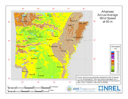 Arkansas vegetaion images Windexchange arkansas 80 meter wind resource map jpg