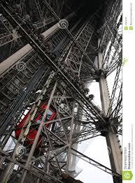 eiffel tower interior inside eiffel tower stock image image of tourism europe 12659791