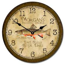 fishing clocks fisher wall clock the big clock store