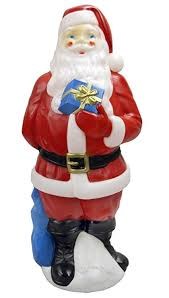 outdoor plastic lighted santa claus amazon com lighted light up christmas indoor outdoor yard or lawn