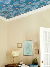 how to wallpaper a ceiling hgtv