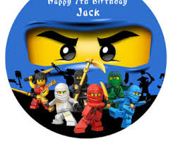 ninjago cake topper ninjago personalised cake topper edible wafer paper 7 5