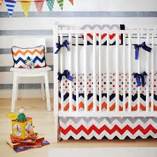 Bright Crib Bedding Chevron Baby Boy Crib Bedding Set All Modern Home Designs