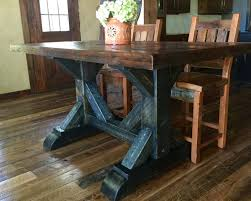 cool waters rough sawn pine dining table 36