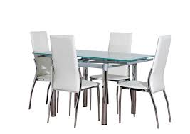 Glass Dining Sets 4 Chairs Furniture Deluxe Glass Dining Table And Chairs Design
