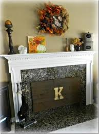 insulated fireplace cover w pallet wood